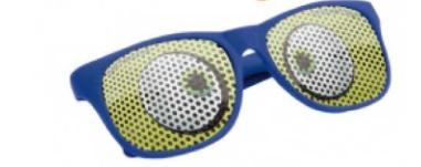 Zonnebril met bedrukking op het glas